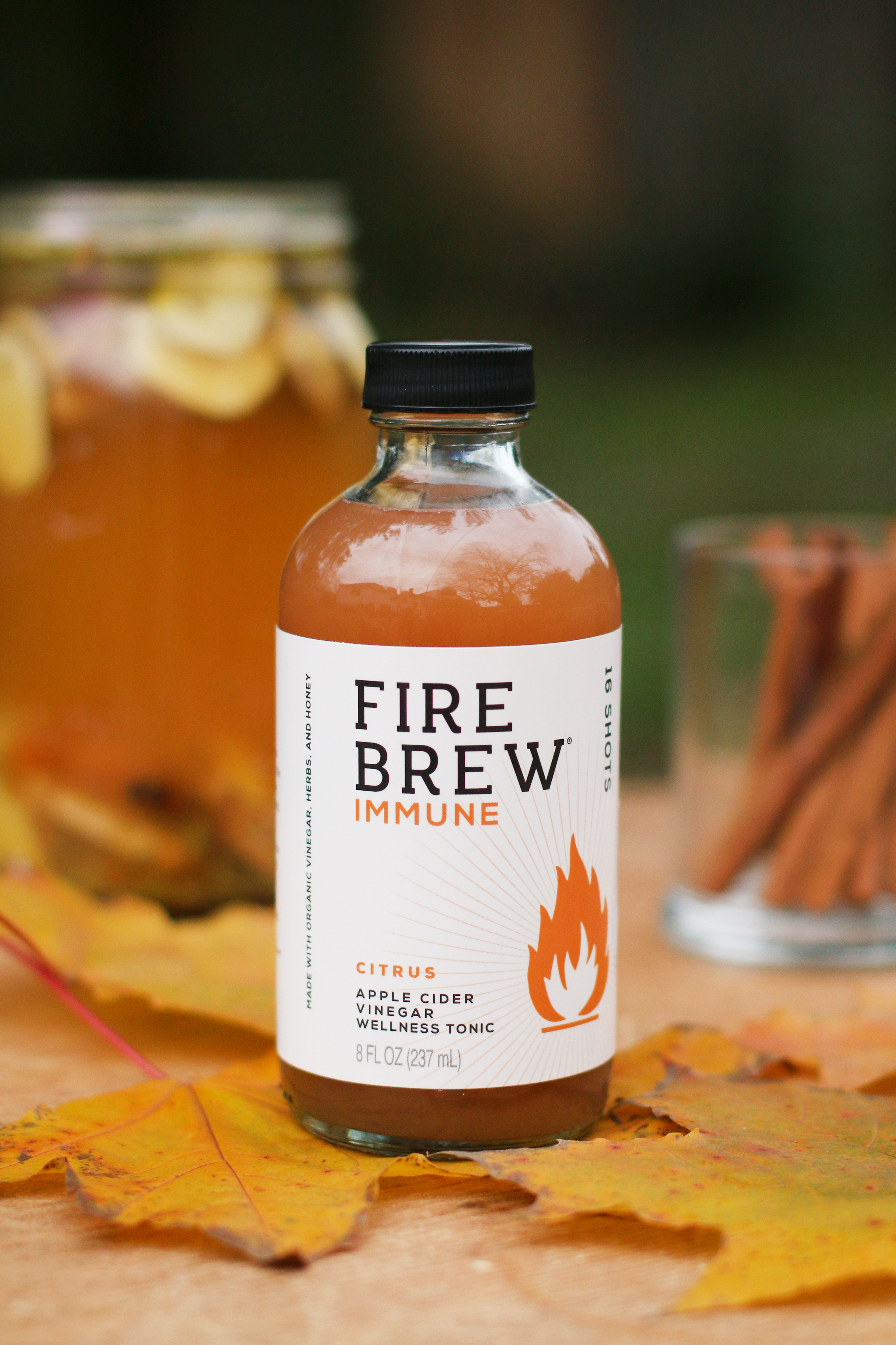 Fire-Brew-fire-cider-in-bottle-with-cinnamon-sticks-and-fall-colors